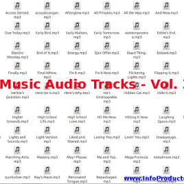 Music Audio Tracks – Volumen 3